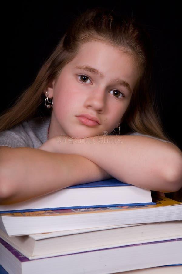 Herumgegammelt durch Homework stockfoto