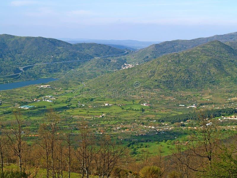 Hervas, górska wioska na wiośnie zdjęcia royalty free