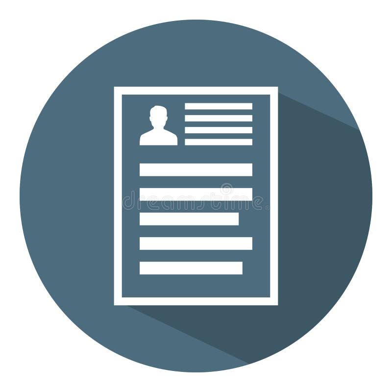 Hervat Documentpictogram Toepassing, Rapport, Registerpagina Vectorillustratie voor Ontwerp, Web, Infographic vector illustratie