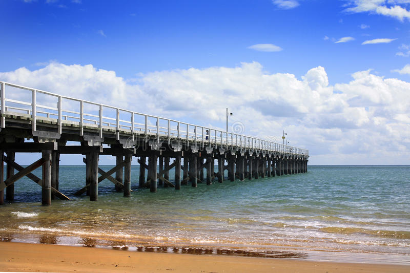 Hervey Bay Australia. The Pier at Hervey Bay Australia royalty free stock photography