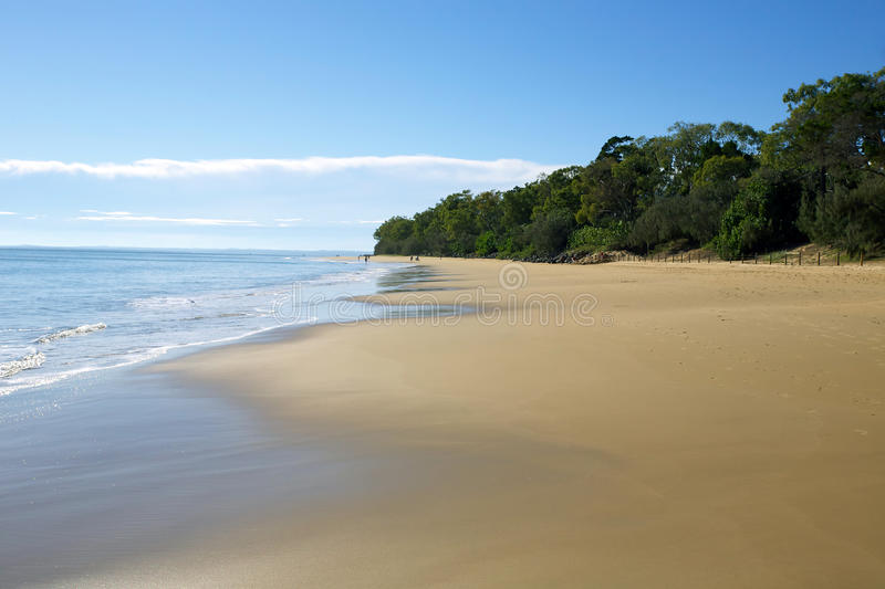 Hervey Bay Australia. An Australian beach landscape at Hervey Bay in Queensland Australia royalty free stock image