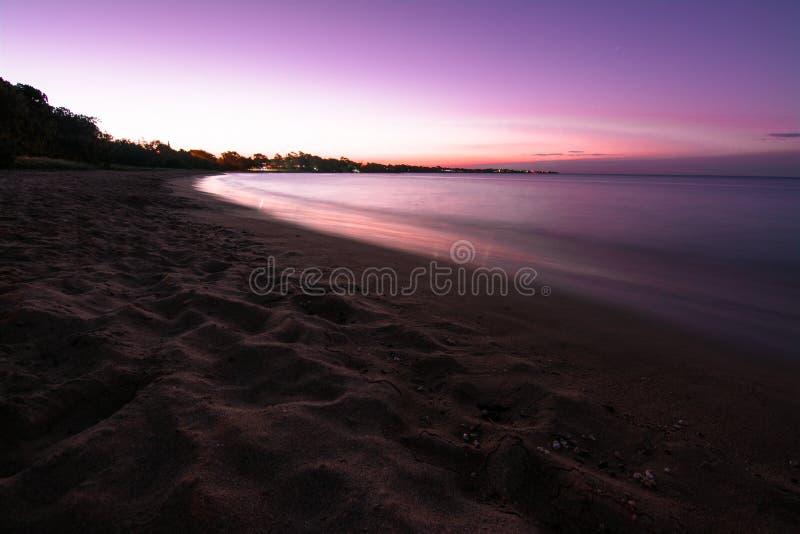 Hervey Bay Beach Sunset foto de stock royalty free