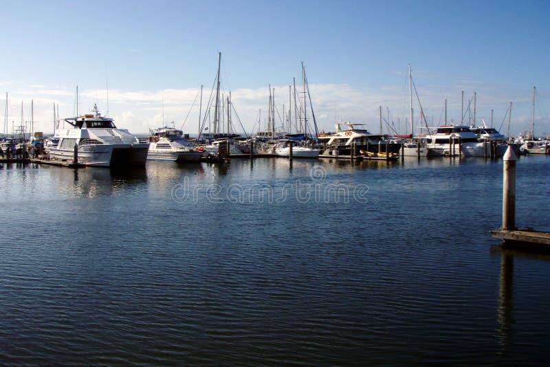 Hervey Bay marina stock image