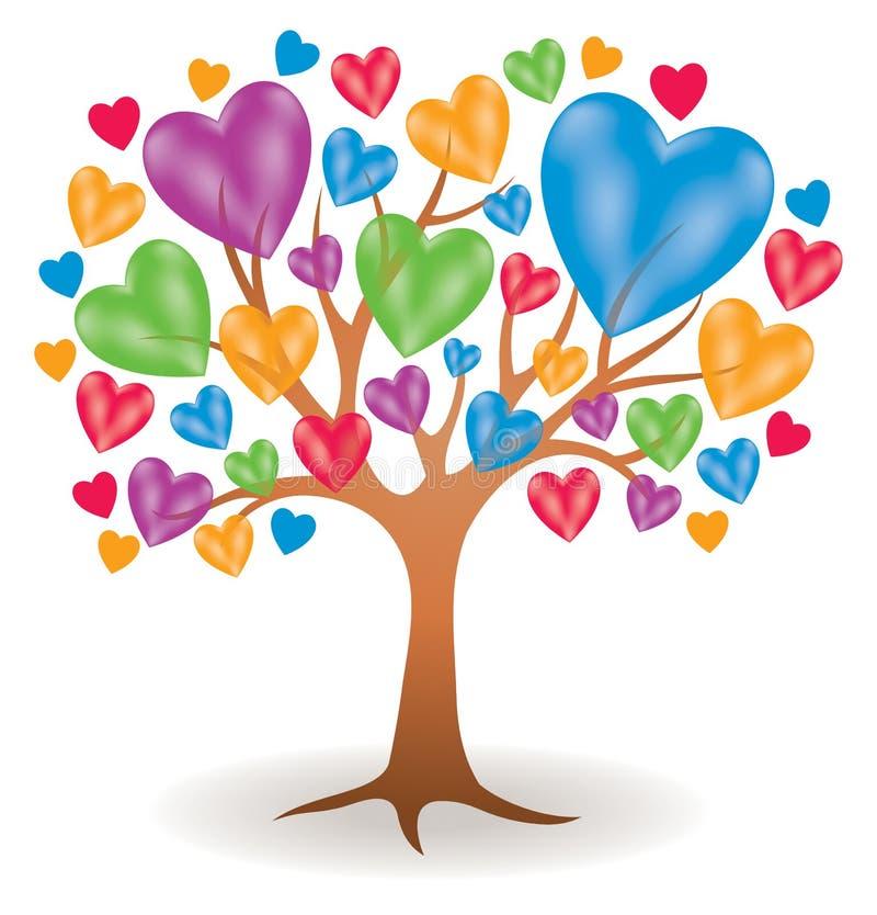Herz-Baum-Logo lizenzfreie abbildung