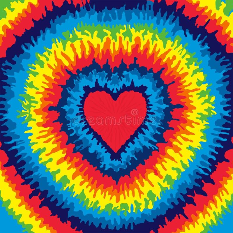 Herz-Bindungs-Färbungs-Hintergrund lizenzfreie abbildung