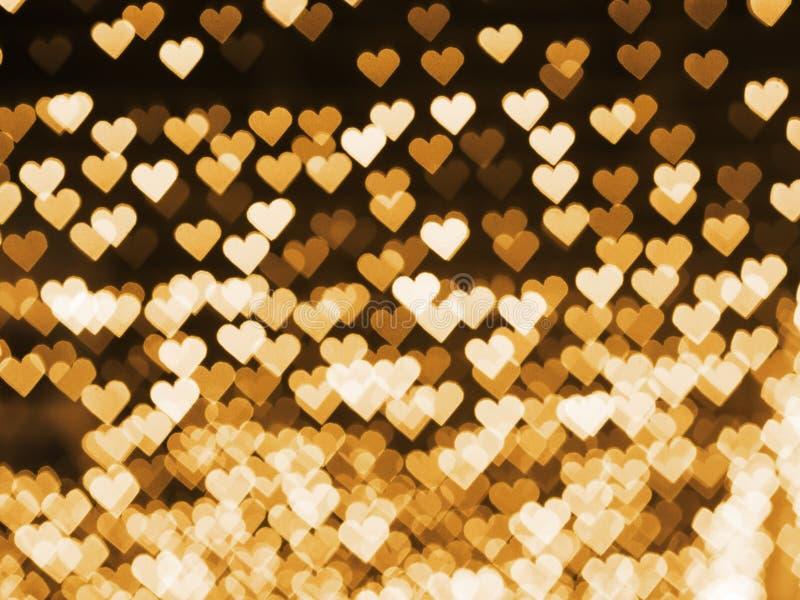Herz bokeh für Valentinsgruß ` s Tageshintergrund stockfoto