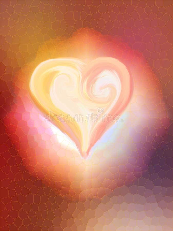 Herz in der Blume lizenzfreies stockfoto
