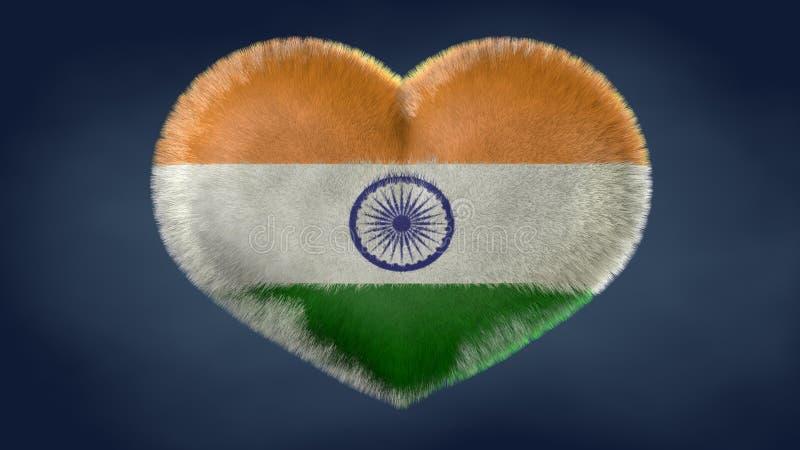 Herz der Flagge von Indien lizenzfreie abbildung