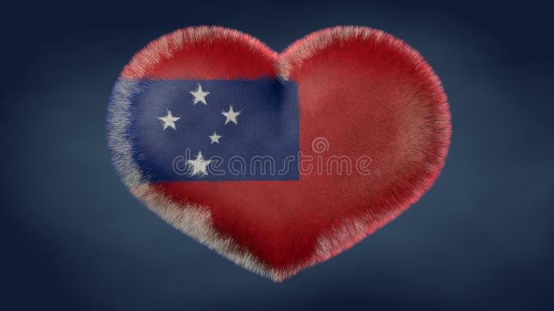 Herz der Flagge von Samoa lizenzfreie abbildung