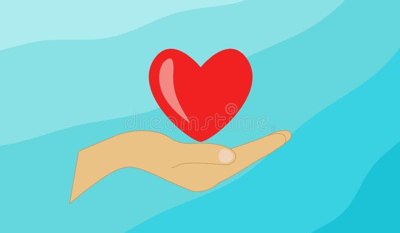 Herz in der Hand lizenzfreie stockbilder