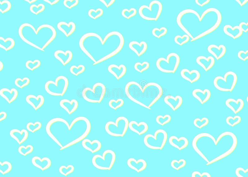 Herz-Design-Hintergrund Gruß-Karte Valentine Day Auch im corel abgehobenen Betrag Abstrakte Liebeskonzeptabbildung Fallender Conf vektor abbildung