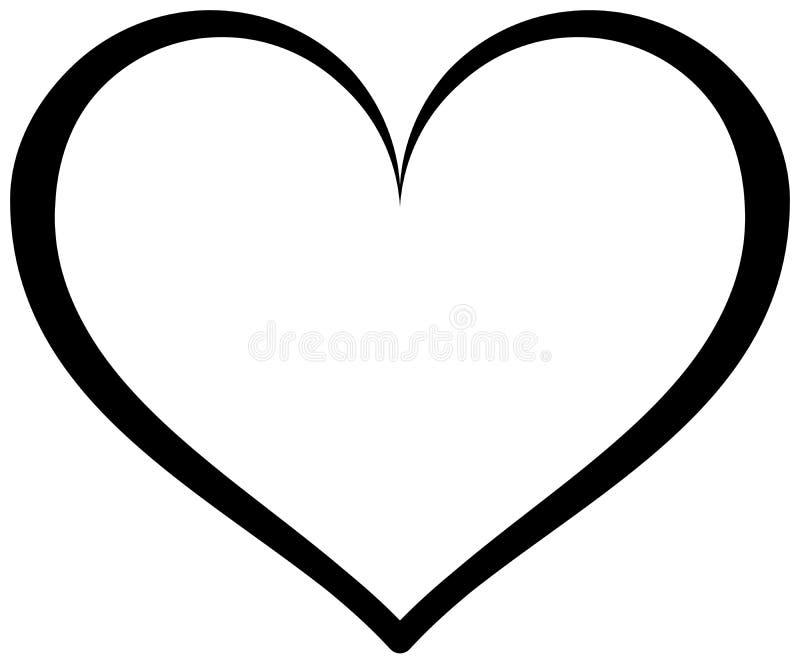Herz-Entwurfs-Ikone lizenzfreie abbildung
