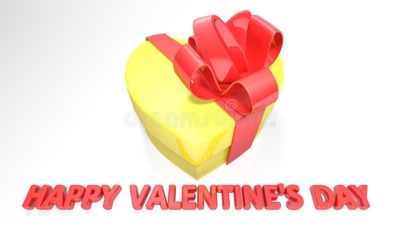 Herz formte Geschenkbox für Valentinsgruß ` s Tag - Wiedergabe 3D vektor abbildung