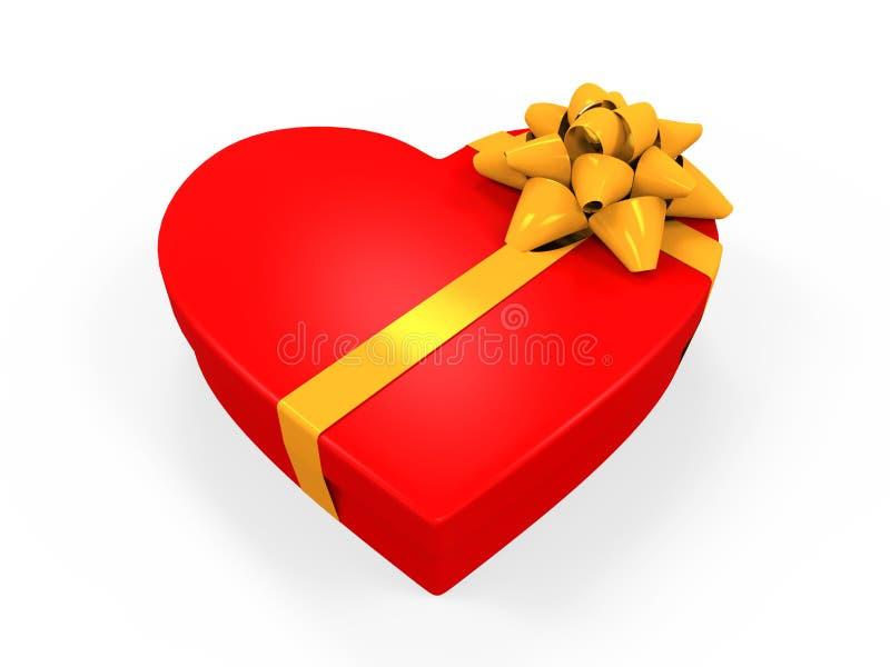 Herz-geformte Geschenkbox stock abbildung