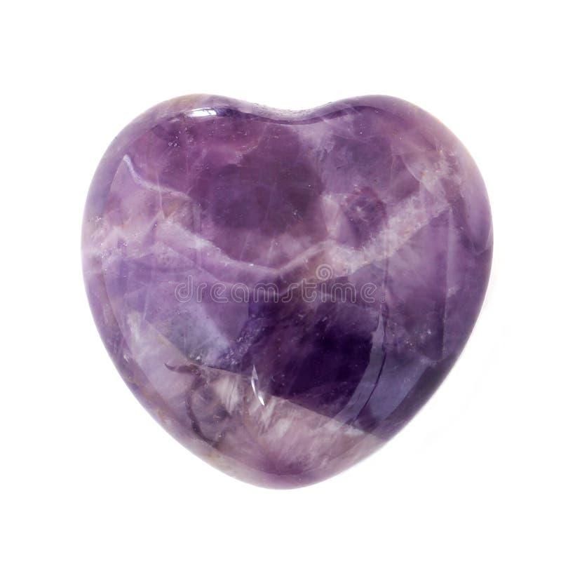 Herz-geformter Amethyst lizenzfreies stockbild