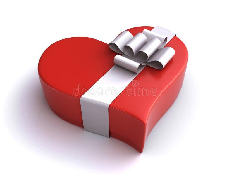 Herz-Geschenkbox stock abbildung