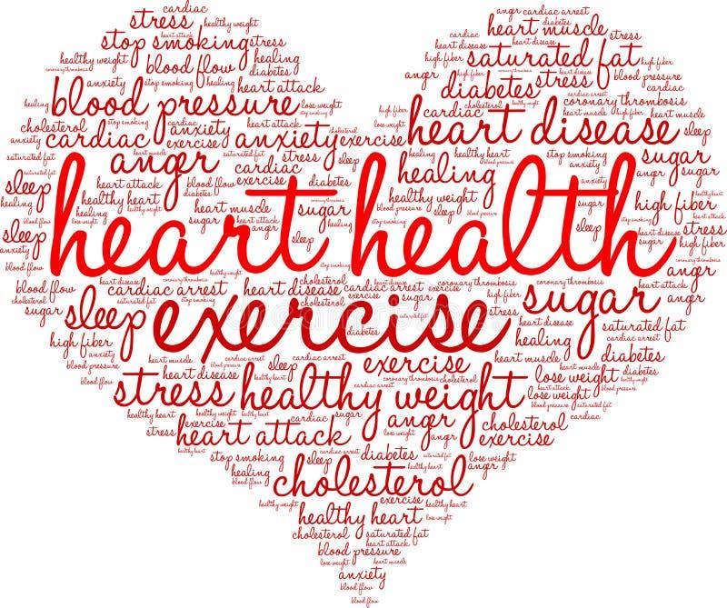 Herz-Gesundheits-Wort-Wolke vektor abbildung