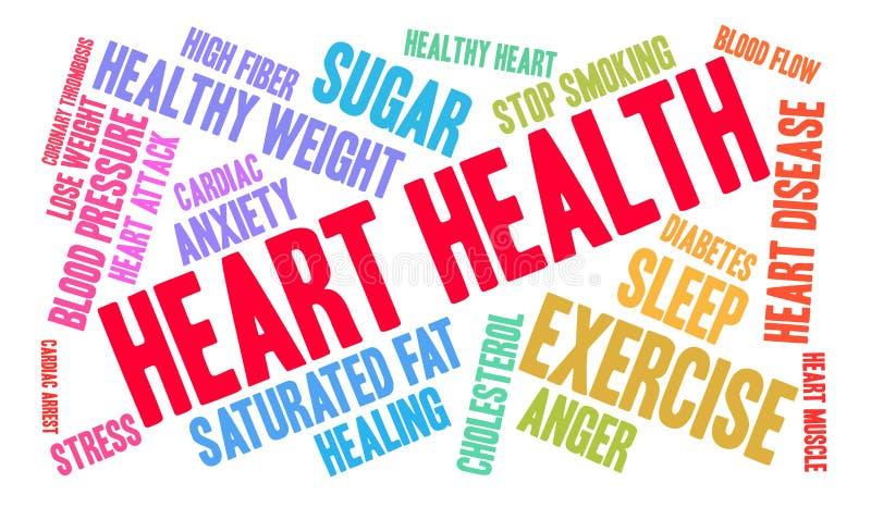 Herz-Gesundheits-Wort-Wolke stock abbildung