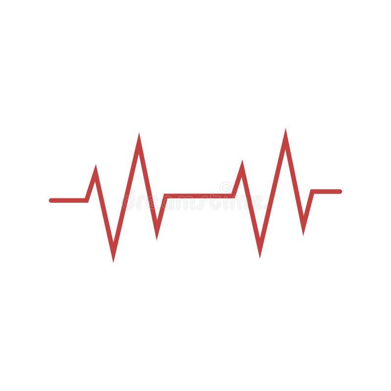 Herz, Herz, Herzschlagikone Vektorillustration, flaches Design stock abbildung