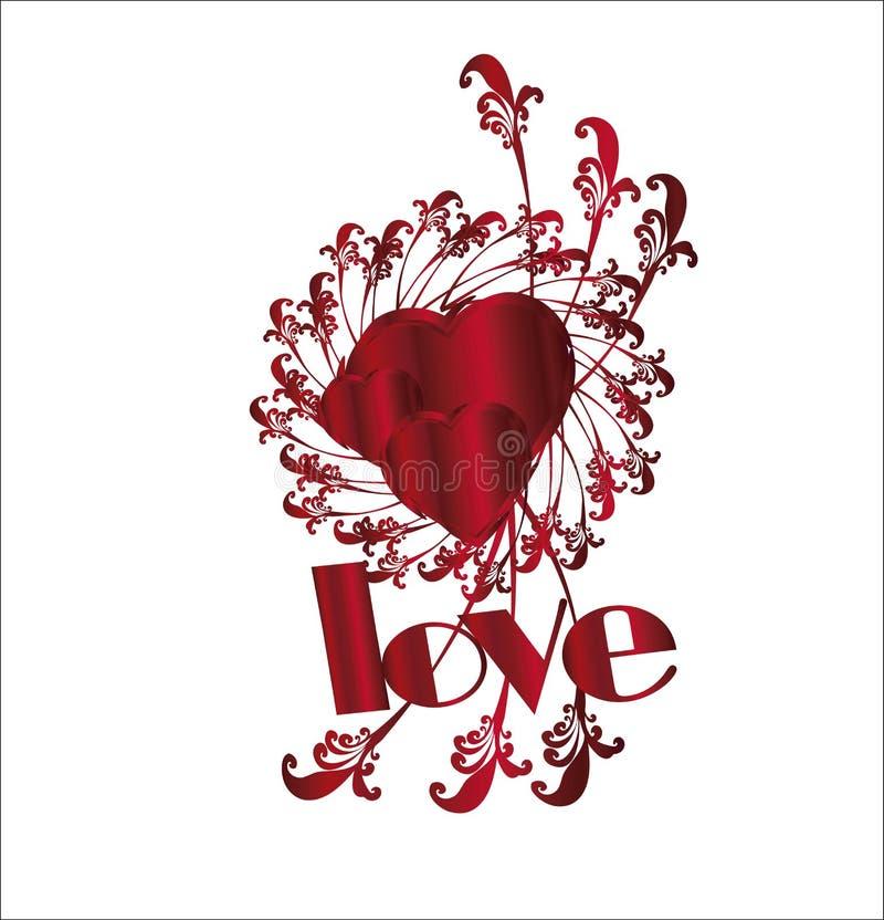 Herz Ich Liebe Dich Rahmen Stock Abbildung - Illustration von ...
