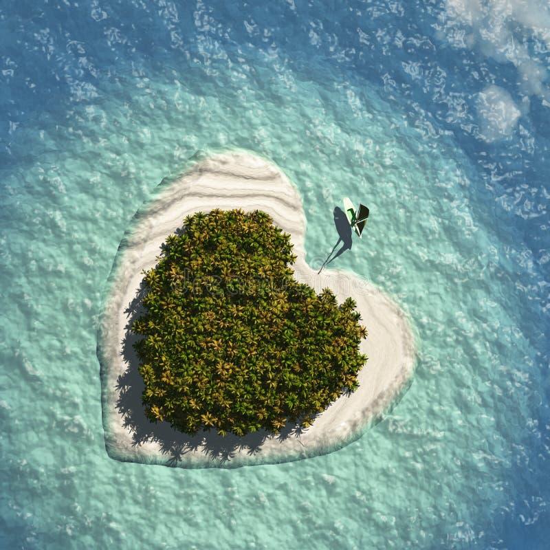 Herz-Insel lizenzfreie abbildung