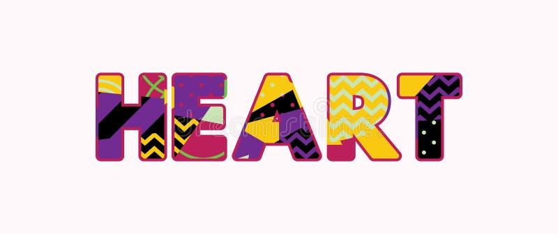 Herz-Konzept-Wort Art Illustration lizenzfreie abbildung