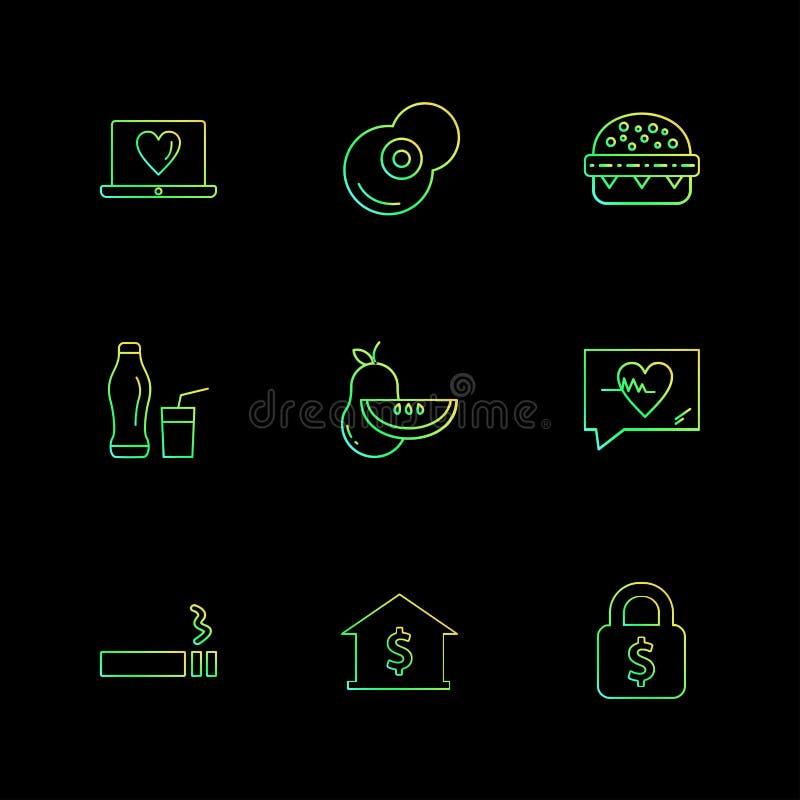 Herz, Lebensmittel, Früchte, Verschluss, Bank, Früchte, Gesundheit, Eignung lizenzfreie abbildung