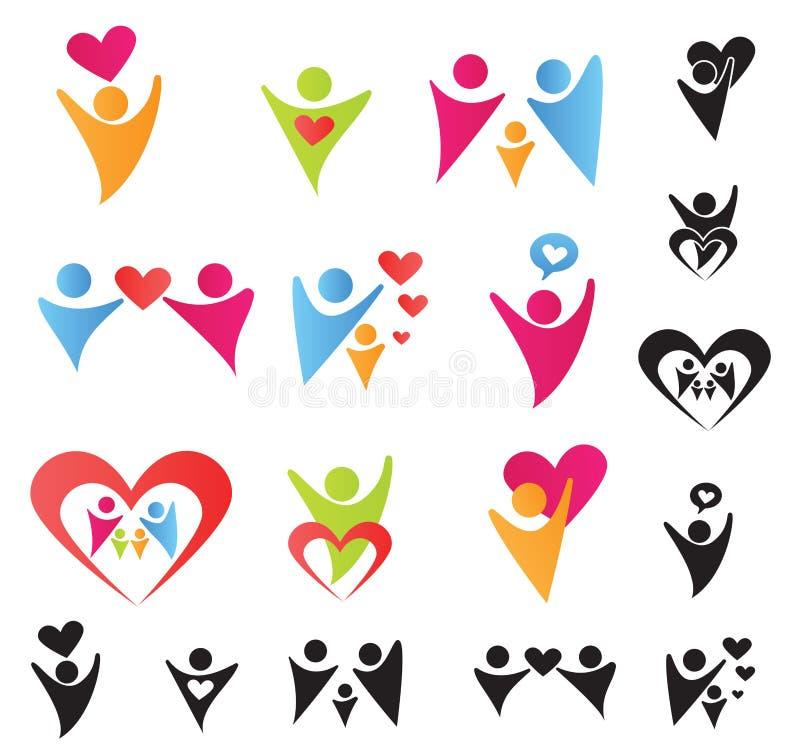 Herz-Leute vektor abbildung
