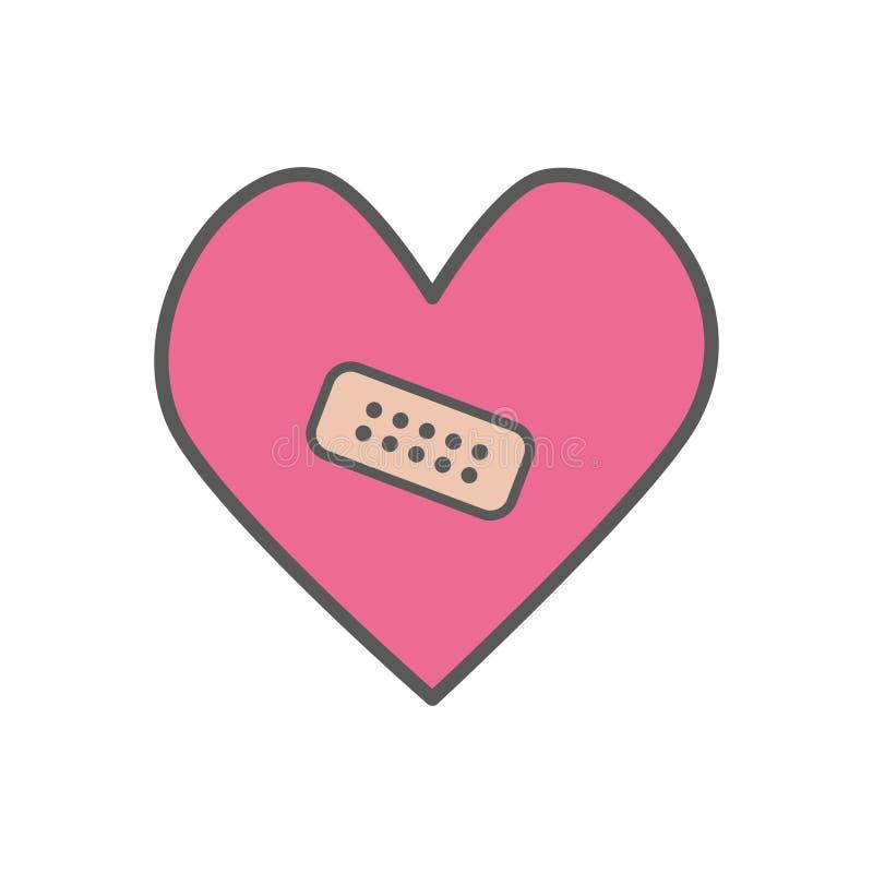Herz mit Gipsikone vektor abbildung