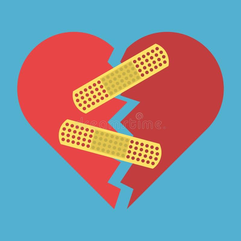 Herz mit Heftpflaster vektor abbildung