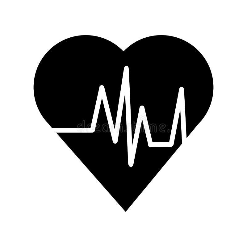 Herz mit Impuls- und Eignungskonzeptdesign lizenzfreie abbildung