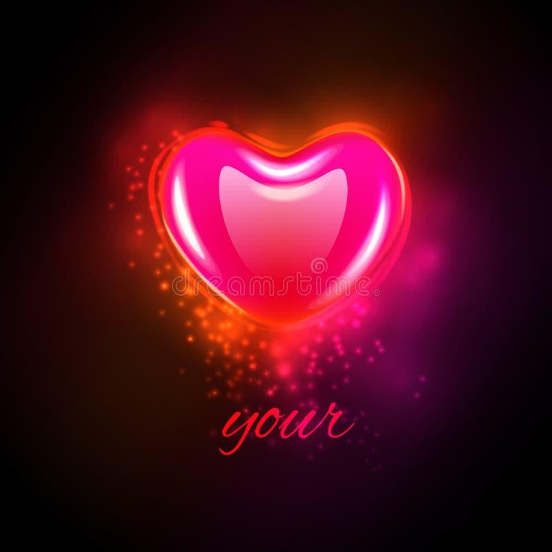 Herz mit kosmischen Lichtern stock abbildung