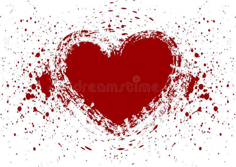 Herz plätschern Blutisolat lizenzfreie abbildung