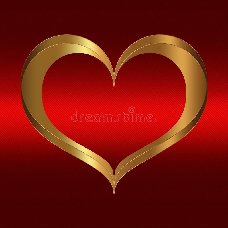 Herz-rote Goldsammlung stock abbildung