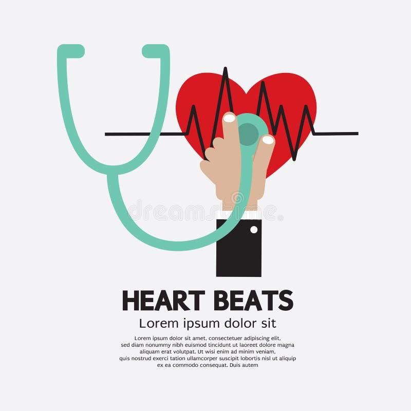 Herz-Schläge lizenzfreie abbildung