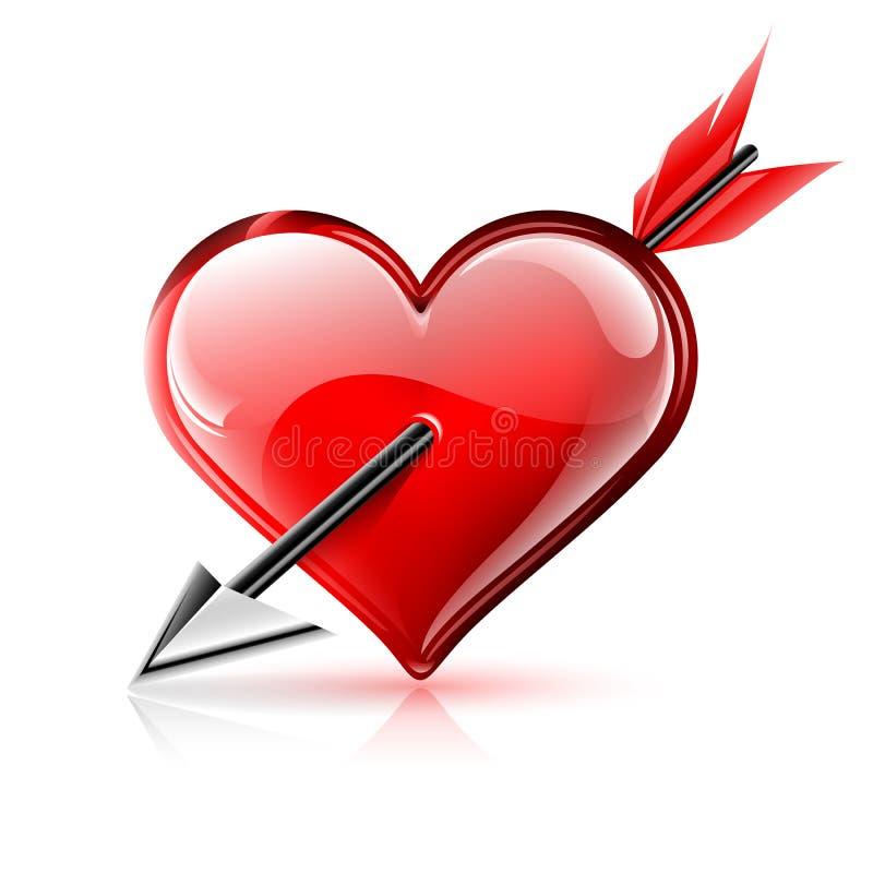 Herz und Pfeil stock abbildung