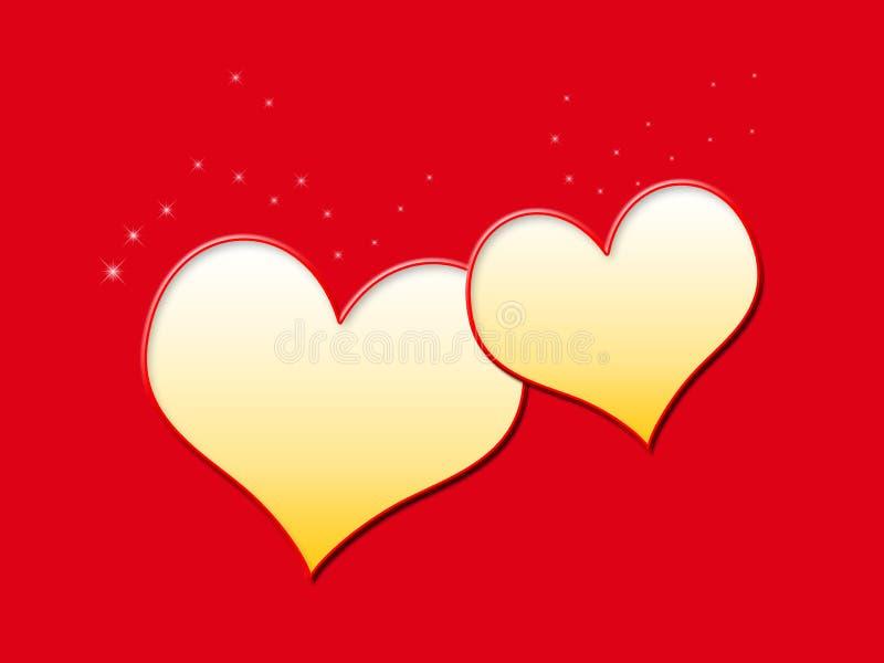 Herz zur Herzillustration stockfotos