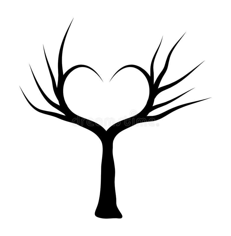 Herzbaumvektorsymbol-Ikonendesign Schöne Abbildung vektor abbildung
