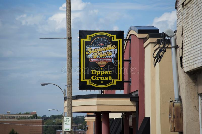 Herzchen-obere Krusten-Seelen-Lebensmittel, St. Louis, MO stockfotografie