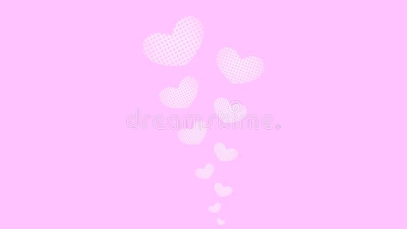 Herzen auf einem Rosenhintergrund lizenzfreie stockfotografie
