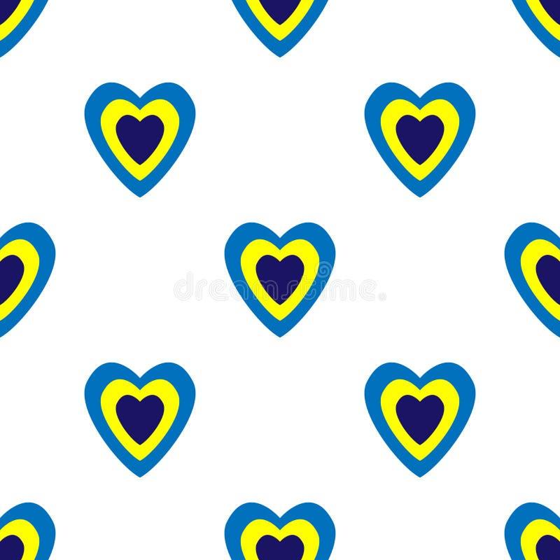 Herzen f?r Valentinsgru? ` s Tag Romantisches Gef?hl und Liebe Nahtloser Vektor ENV 10 Abstraktes geometrisches Muster Mehrfarben stock abbildung