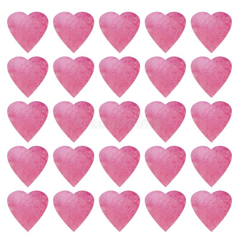Herzform-Symboldesign Buntes Herzmuster für Papier, Gewebe, Karte Valentinsgrußtagesnahtloser Hintergrund lizenzfreie abbildung