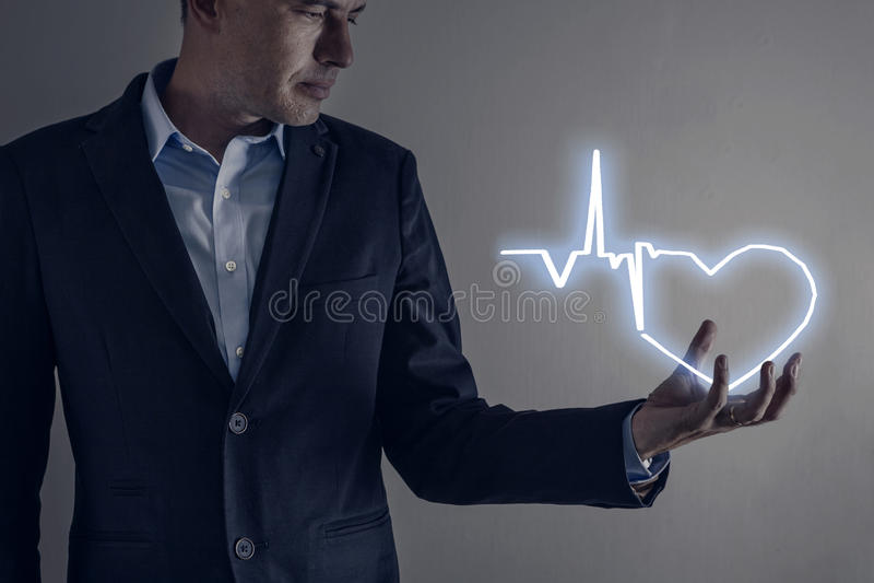 Herzformlicht lizenzfreies stockbild