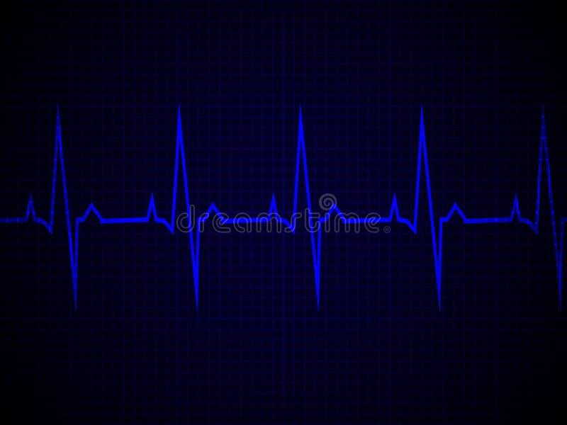 Herzfrequenz, Herzschlag, Neonlinie stock abbildung