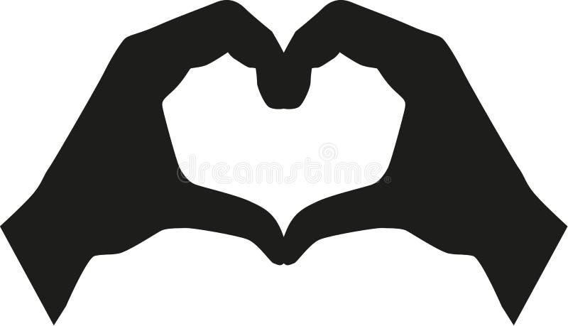Herzgestalt von Händen lizenzfreie abbildung