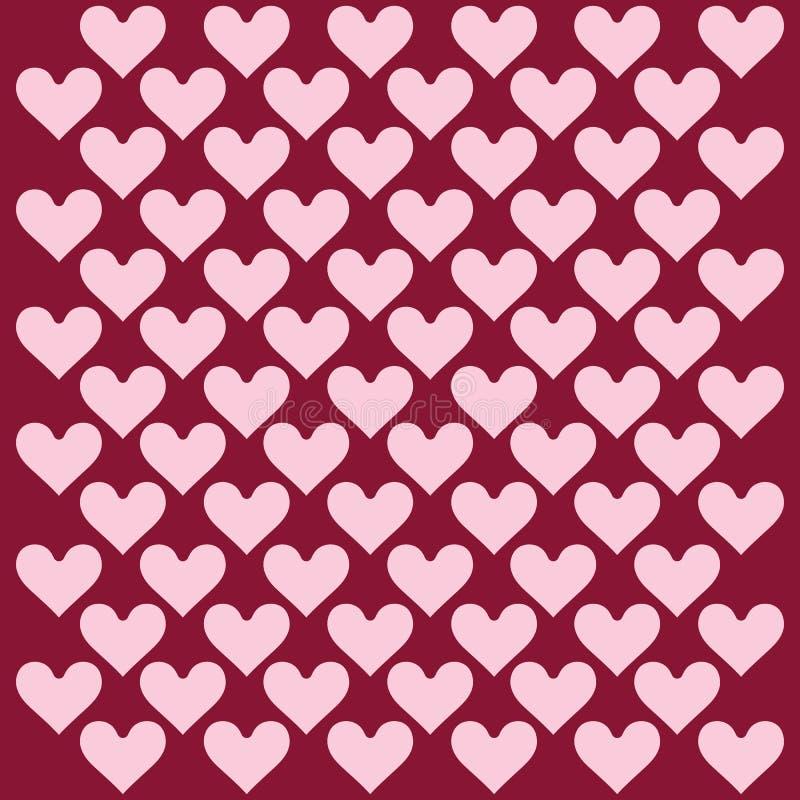 Herzhintergrund - Muster - Herzen - St.-Valentinsgruß - Herzen tapezieren stock abbildung