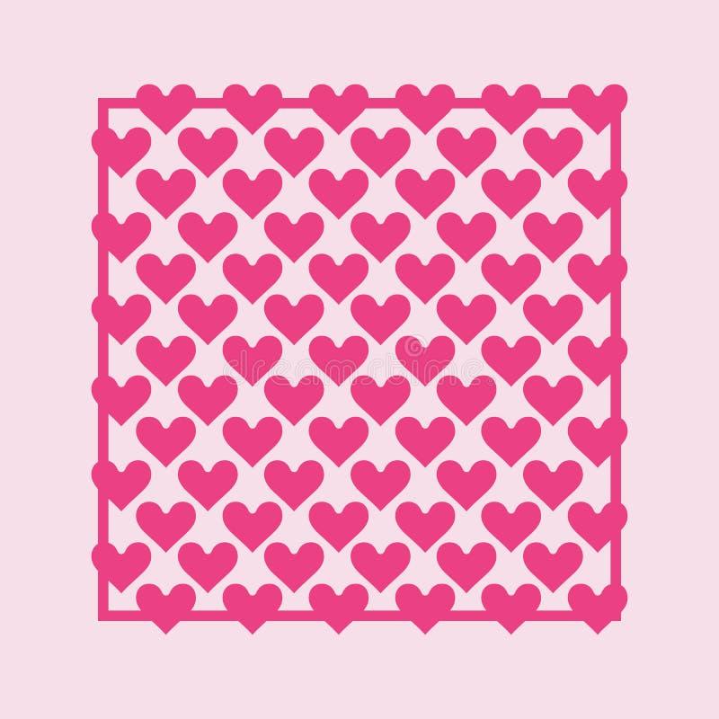 Herzhintergrund - Muster - Herzen - St.-Valentinsgruß - Herzen tapezieren vektor abbildung