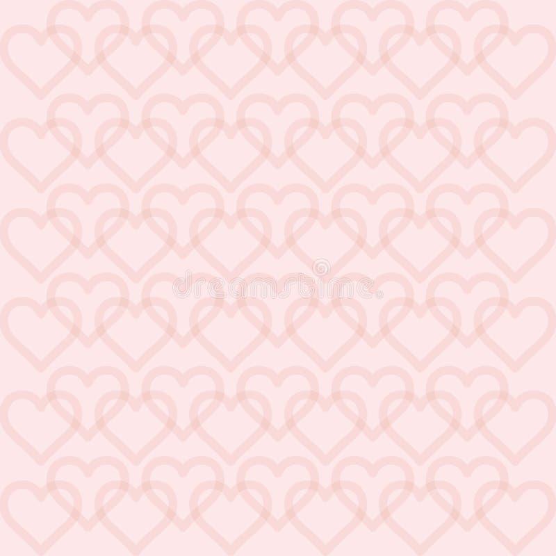 Herzhintergrund - Muster - Herzen - St.-Valentinsgruß - Herzen tapezieren lizenzfreie abbildung