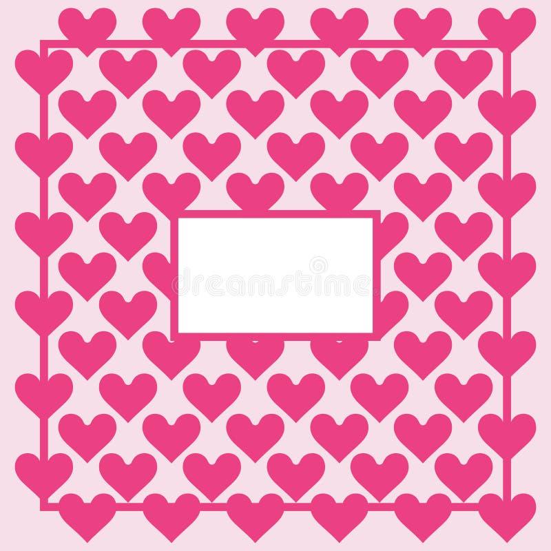 Herzhintergrund - Muster - Herzen - St.-Valentinsgruß - Herzen tapezieren - Leerstelle für Text lizenzfreie abbildung