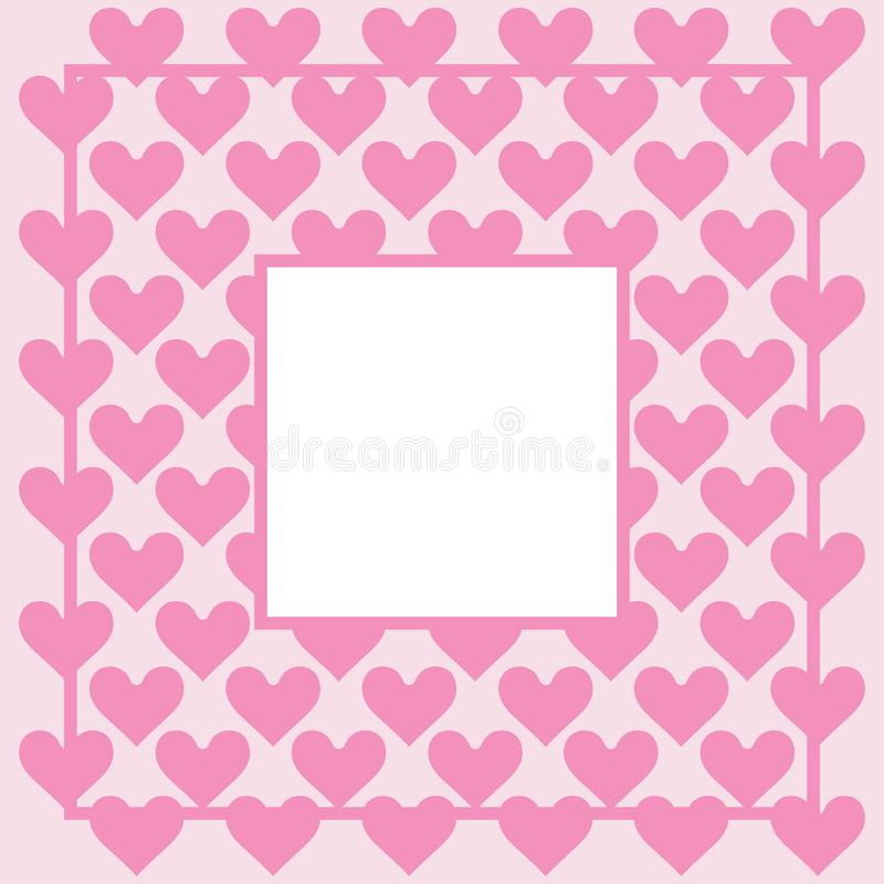 Herzhintergrund - Muster - Herzen - St.-Valentinsgruß - Herzen tapezieren - Leerstelle für Text stock abbildung